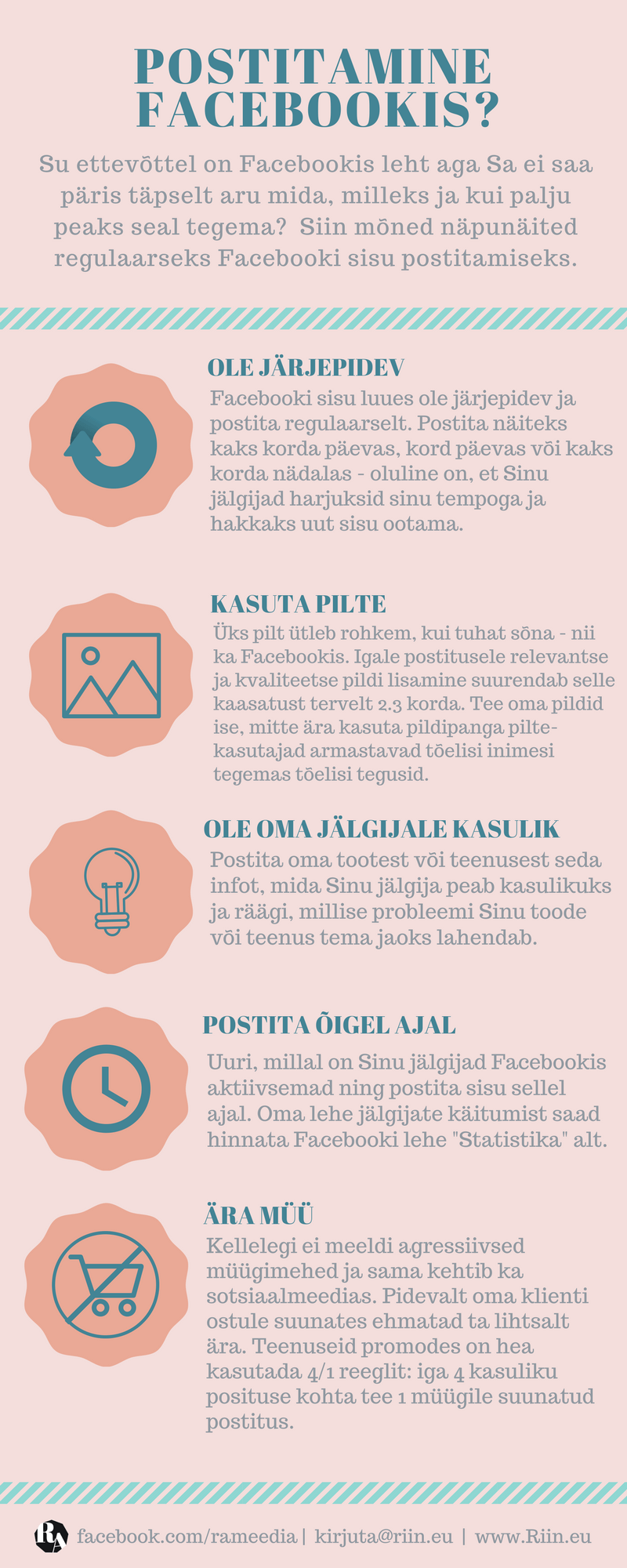 Riin.eu - Postitada Facebookis- Infograafika