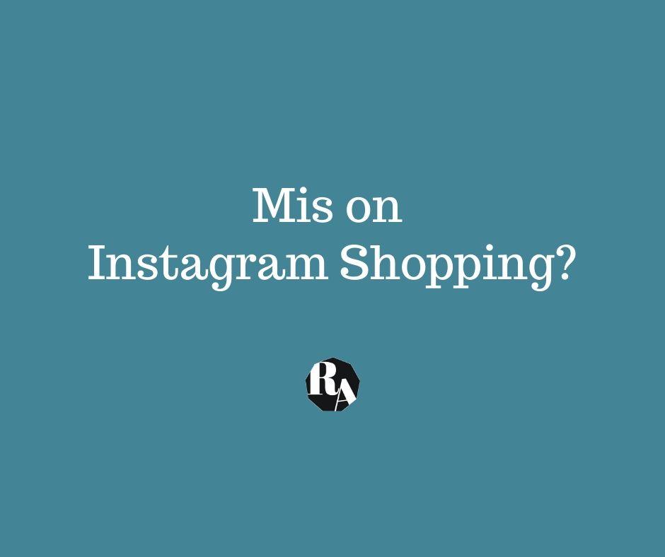 Riin.eu-mis on instagram shopping